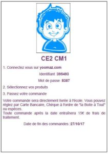 Carte parent yoomaz